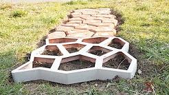 Многоразовая форма для создания садовой дорожки - YouTube