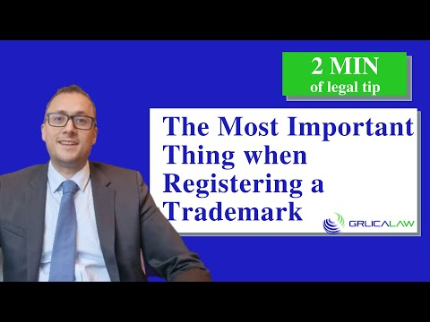 🟢⚖️  What is the most important thing when registering a trademark?