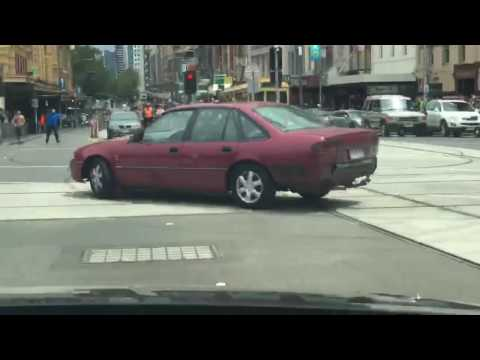 Extraordinary footage captures alleged Bourke St attacker driving recklessly on Flinders Street