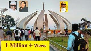 MGR Samadhi/Jayalalitha Amma Samadhi/Kalaignar Karunanidhi Samadhi/Marina Beach Chennai