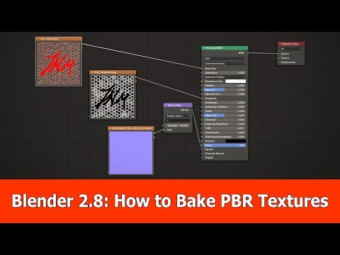 How To Bake PBR Textures With Blender 2.8