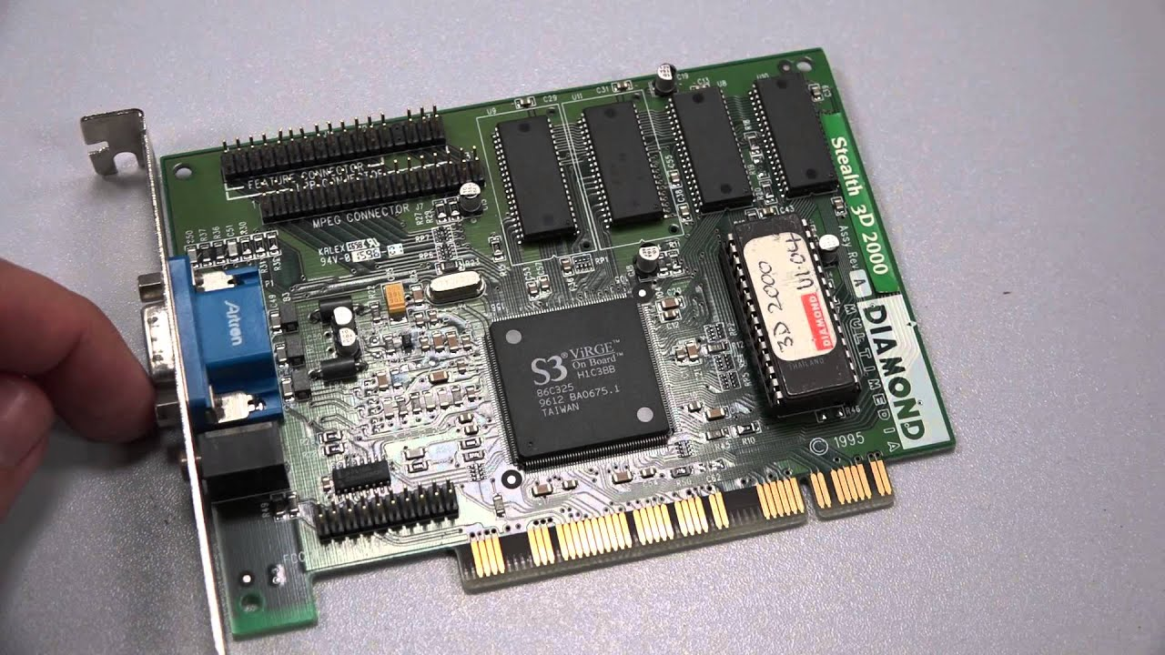 Stealth 3D 2000 Diamond S3 ViRGE PCI Graphic Card - YouTube - photo#31