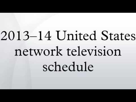 2013–14 United States network television schedule