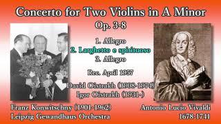 Vivaldi: Concerto for 2 Violins, Oistrakh & Konwitschny (1957) ヴィヴァルディ 2つのヴァイオリンのための協奏曲