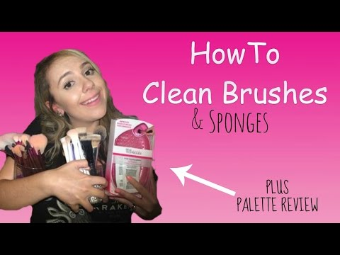 How To Clean Brushes & Sponges | RT Brush Cleaning Palette Review | Nikki Stixx
