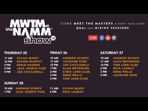 MWTM live at NAMM 2018 - Nick Launay & Greg Wells