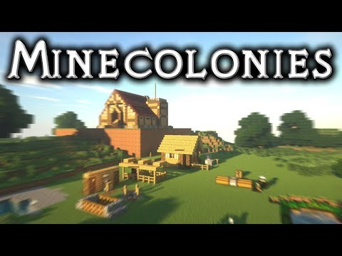 ⚒️ Minecolonies Survival: #2 - Townhall, Builder's Hut And The Mine