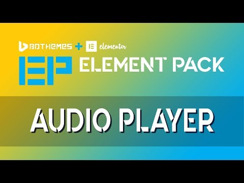Audio Player   Element Pack   Add-On For Elementor