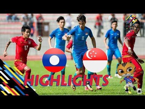 HIGHLIGHT | U22 LÀO vs U22 SINGAPORE | BẢNG A BÓNG ĐÁ NAM SEA GAMES 29