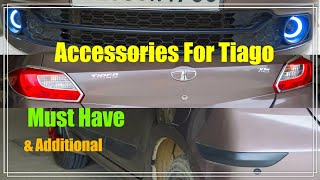 Tata Tiago All important & Additional Accessories-Scuff Plate-DRL-Bumper Protector-Arm Rest-Hindi