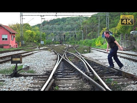 Rail traffic in Serbia - Topcider - old manualy junction wor