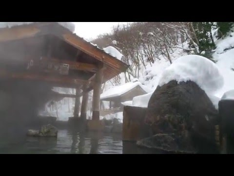 Takaragawa Onsen in the snow - Tokyo - Japan - HD Video