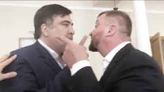 Ты ублюдок и мерзавец!!! Саакашвили министру юстиций Петренко