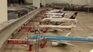 Biggest and smallest, scale Airport of the world, Miniature Wonderland, Hamburg, 17 JAN 2014