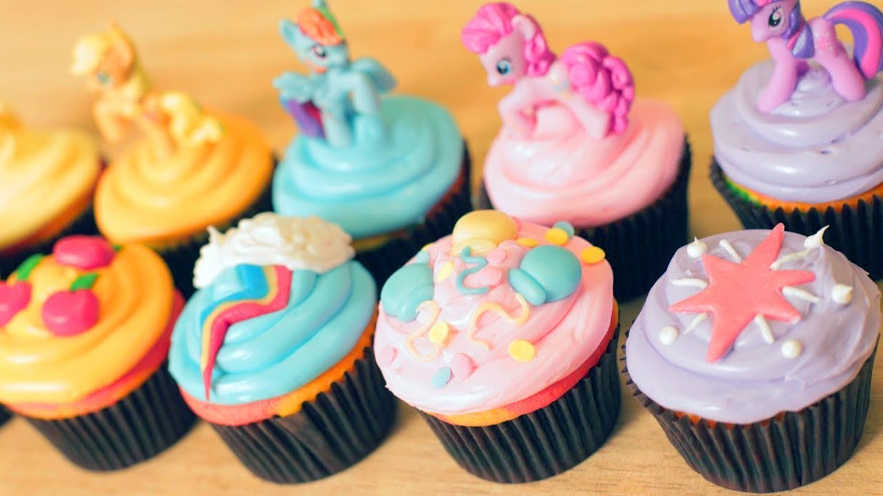 my little pony cupcakes - nerdy nummies - youtube