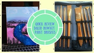 Quick Review: Daler Rowney Paint Brushes