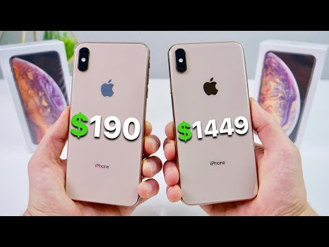 $190 Fake iPhone XS Max vs $1449 XS Max! (NEW)
