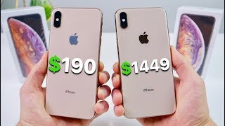 190 Fake IPhone XS Max Vs 1449 XS Max NEW