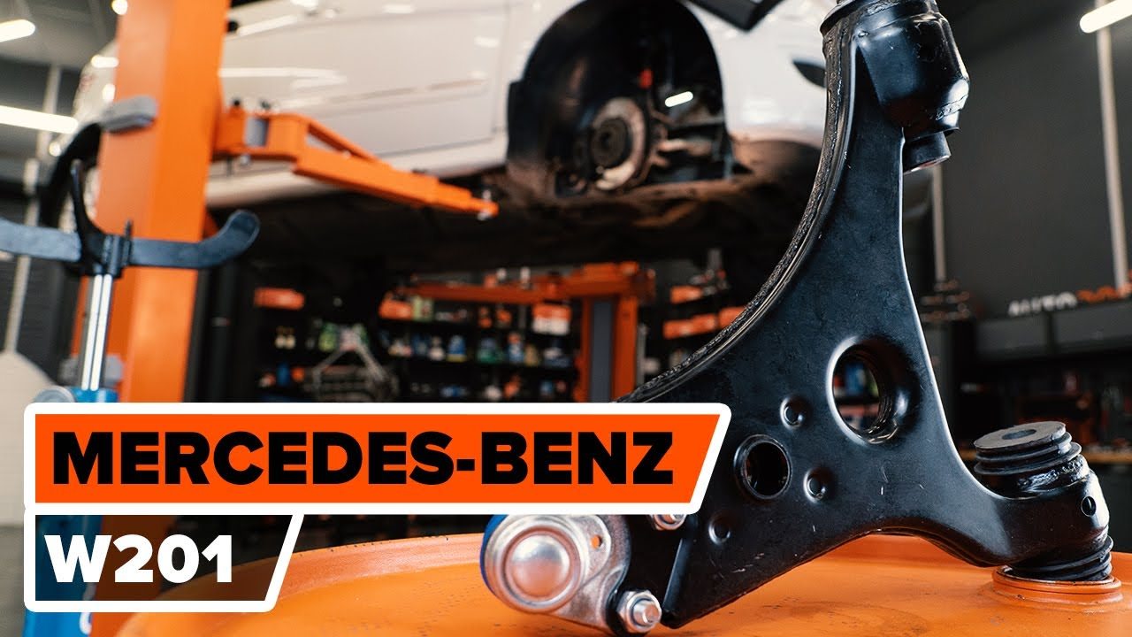 How To Replace Front Lower Arm On Mercedes Benz 190 W201