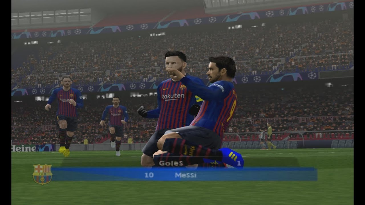 PES 2019 (PS2) Barcelona vs Liverpool - Champions League
