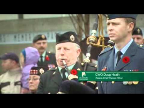 Rededicating a Military Monument / Cérémonie de renouvellement d