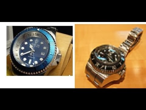 Invicta Hydromax Vs Rolex Sea Dweller Deepsea Challenge Size Comparison