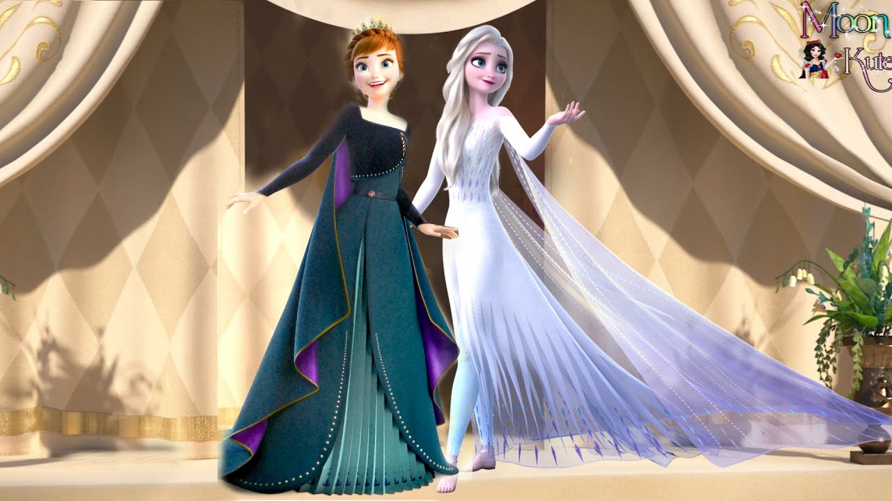Queen Elsa and Queen Anna in Coronation Day ( reuploaded )