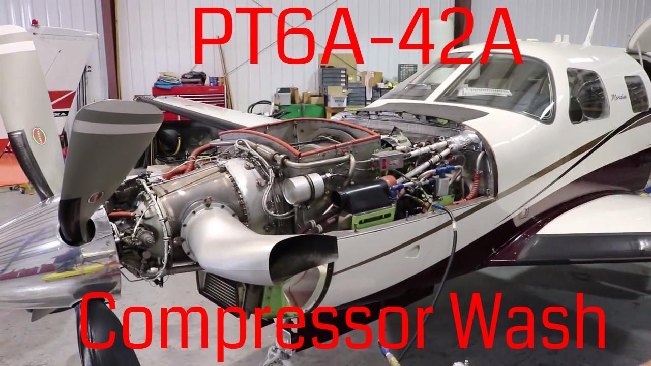 Piper Meridian PT6A-42A Compressor Wash