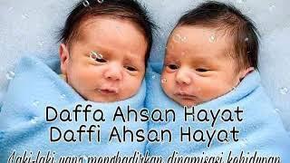 Kumpulan nama - nama bayi kembar