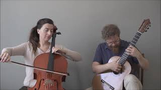 Maurice Ravel - Chanson épique - Cello Guitar Duet Duo Vitare