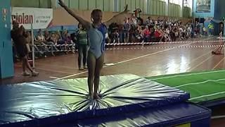 София Теплухина. Прыжки на акробатической дорожке