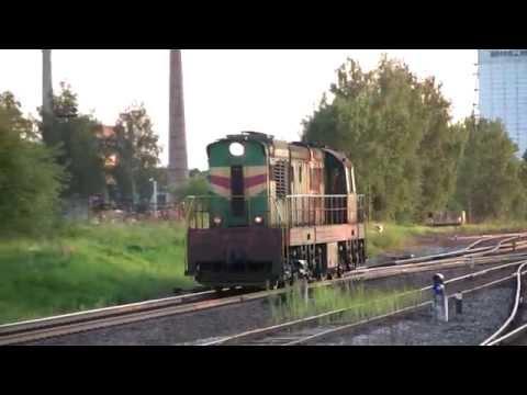 Тепловоз ЧМЭ3-3966 в ст. Раквере / CME3-3966 Passing Rakvere Station