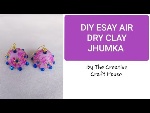 Diy how to make jhumka at home using air dry clay/mouldit/shilpkar/m-seal very easy