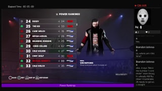 WWE 2k18 Universe mode  Power Rankings for the week of 8\26\18