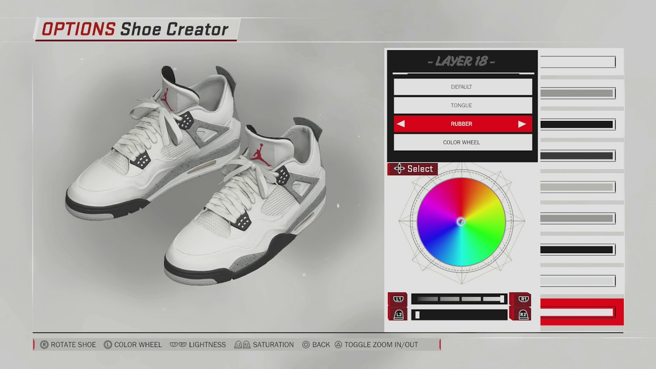 NBA 2K18 Shoe Creator | Jordan 4 White Cement