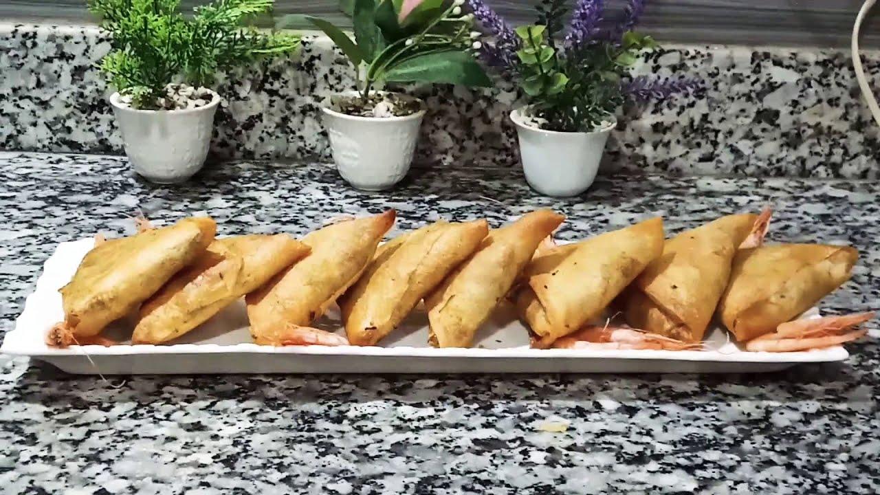 (شهيوات رمضان )بريوات او بسطيلات صغار  بالحوت من اروع والذ  حشوة بطريقة مبسطة