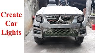 TECH - How to make electric car mercedes style - Create car lights