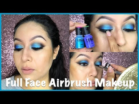 Blue Eyeshadow Tutorial  Dinair Airbrush Makeup