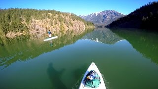 PADDLE BOARDING GLACIER LAKE - Diablo Lake in Washington State