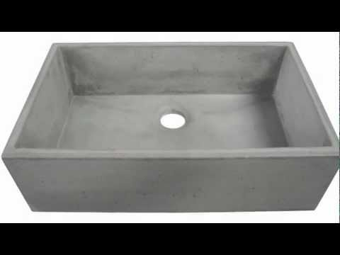 Concrete Farm Sink ABC3219 CO   YouTube