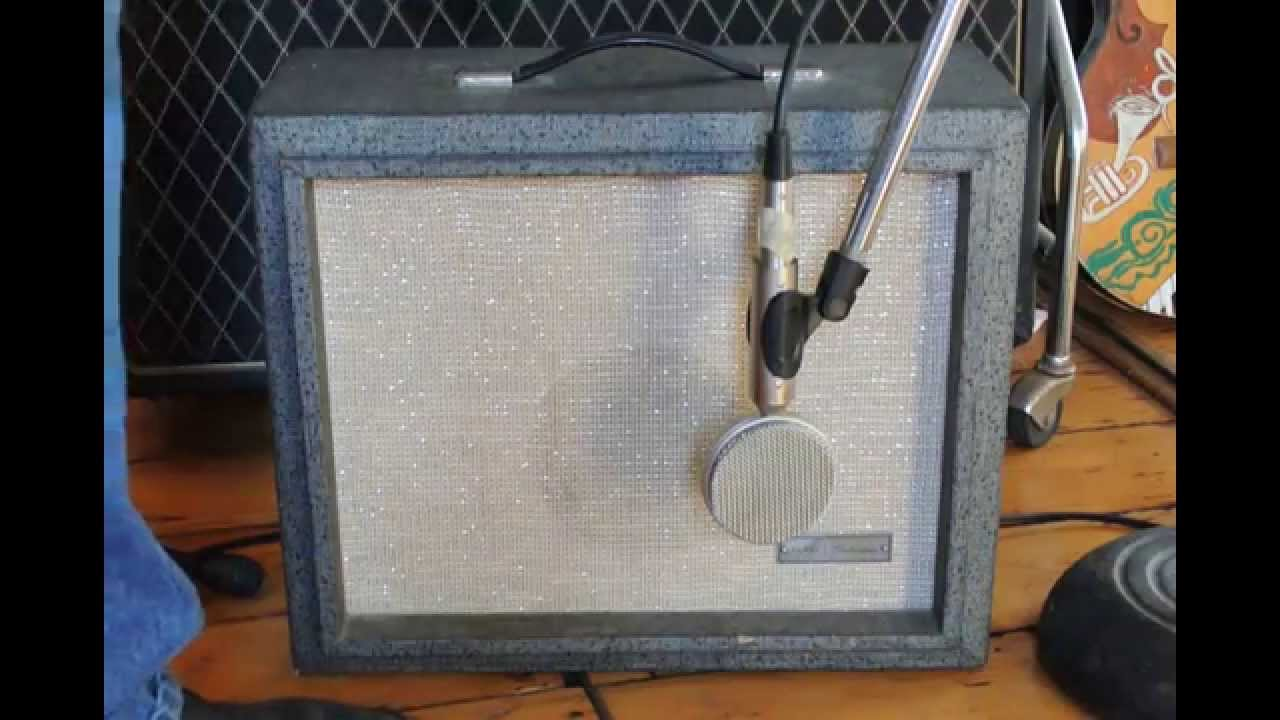 Sears Silvertone 1481 Tube Guitar Amplifier with Silvertone/Dano 1419 Guitar
