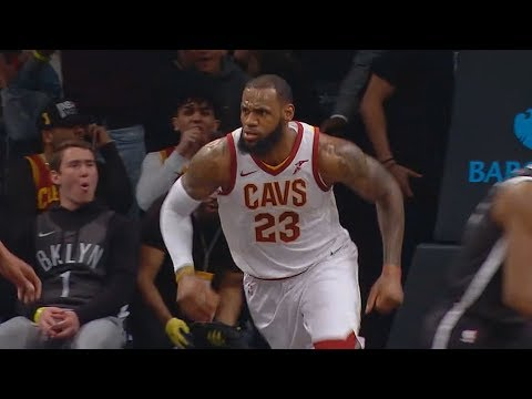 LeBron James Brings the Nets Crowd To Their Feet with Dunk On Joe Harris! Cavaliers vs Nets