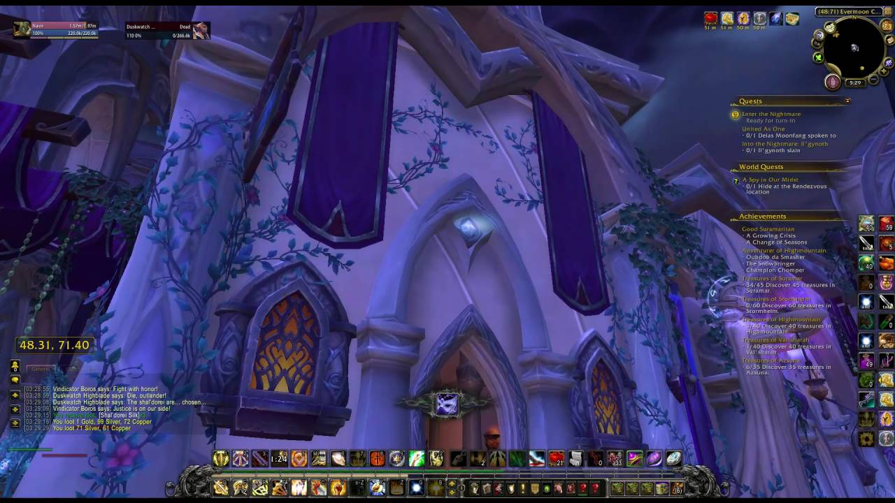 wow how to get on roof in suramar evermoon commons