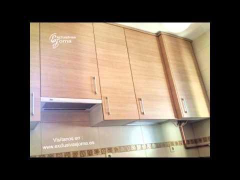 Muebles de cocina en madera con encimera de formica ...