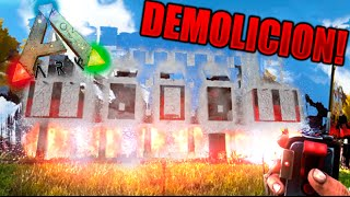 DEMOLICION !! ADIOS CASA XD REBENTANDO MI PROPIA CASA !! ARK SURVIVAL EVOLVED Makigames