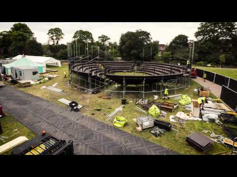 Timelapse footage of the construction of Grosvenor Park Open Air Theatre
