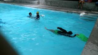 Amo @ 2nd yr swimming lesson