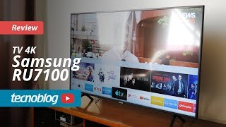 TV 4K Samsung RU7100 - Review Tecnoblog
