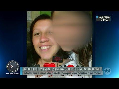 Menina de 12 anos mata a mãe com ajuda do namorado no RS | SBT Brasil (02/07/18)