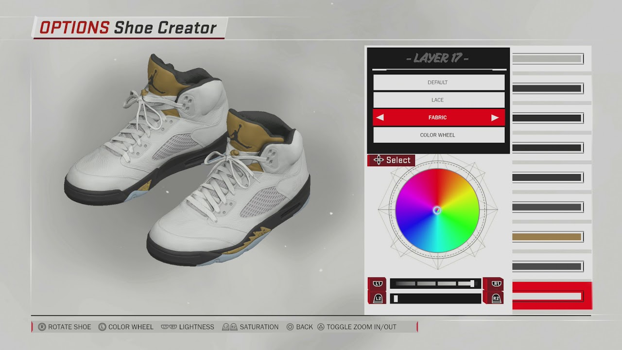 NBA 2K18 Shoe Creator | Jordan 5 Metallic Gold
